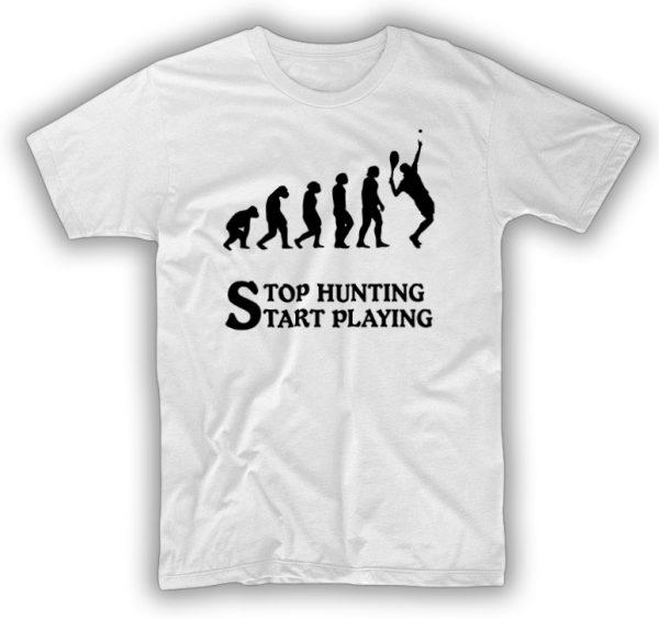 Tasarım t-shirt tüm tenis severlere özel Darwin tasarım