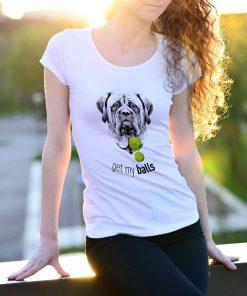 Köpekli özel tasarım sporculara özel beyaz kadın tshirt